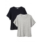Daily Ritual Women's Washed Cotton 1/2-Sleeve Scoop Neck T-Shirt, 2-Pack - Shirts - $20.00