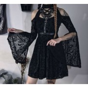 Dark Sexy Halter Lace Up See Through Lon - Vestidos - $35.99  ~ 30.91€