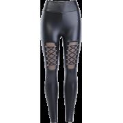 Dark Sexy Peach Butt PU Leather Pants Small Feet High Waist Tights Wear Bandage - Traperice - $26.99  ~ 171,46kn
