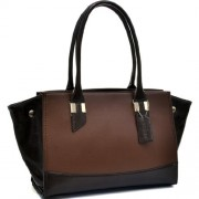 Dasein Convertible Two Tone Shoulder Bag - Hand bag - $29.99