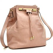 Dasein Fashion Leather Convertible Drawstring Bucket Bag and Backpack - Hand bag - $33.99