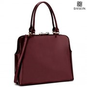 Dasein Women's Top Handle Crossbody Handbag Kiss Lock Satchel Purse Shoulder Bag - Hand bag - $199.99