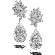 DiamondFlowerEarring - Earrings -