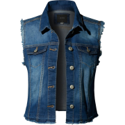 Distressed Sleeveless denim vest - Chaquetas -