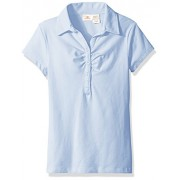 Dockers Girls' Uniform Short Sleeve Stretch Jersey Polo with Shirring - Shirts - $5.38