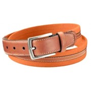 Dockers Mens Canvas Cloth Fabric Belt Leather Trim Sz 40 Varsity Orange - Belt - $12.95