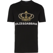 Dolce & Gabbana Crown Print T Shirt - Magliette - 277.00€