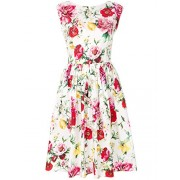 Dolce e Gabbana Women's F6FK4TFS57SHAM62 Multicolor Cotton Dress - Dresses - $1,380.00
