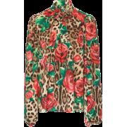 Dolce Gabana Blouse floral Moda Operandi - Long sleeves shirts -
