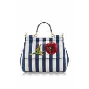 Dolce & Gabbana Sicily Stripe Top Handle - Hand bag -