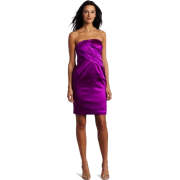 Donna Morgan Women's Asymetrical Strapless Dress Hollyhock - Dresses - $168.00