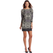 Donna Morgan Women's Border Print Wedge Printed Jersey Dress Pale Fog - Dresses - $140.00