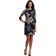Donna Morgan Women's Diagonally Pucci Dress Blue - Dresses - $148.00