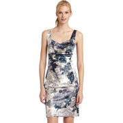 Donna Morgan Women's Floral Stretch Satin Dress Currant - Dresses - $68.31