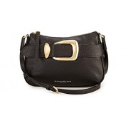Donna Karan New York Buckled Zip Leather Crossbody Bag, Black - Hand bag - $169.99