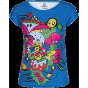 Doodle Art Print Slim Fit T-shirt - Koszulki - krótkie - $46.00  ~ 39.51€