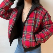 Double-faced loose casual student plaid - Jacket - coats - $79.99  ~ £60.79
