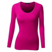 Doublju Fitted Round Neck T-Shirt Top (Plus Size Available) - T-shirts - $10.95