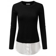 Doublju Long Sleeve Double Layered Fine Knit Sweater For Women - Cardigan - $26.99