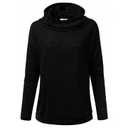 Doublju Loose Fit Cowl Neck Pullover Hoodie For Women With Plus Size (Made In USA) - Pullovers - $21.99