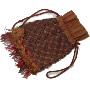 Drawstring Silk Purse Reticule circa1810 - ハンドバッグ -