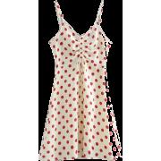 Drawstring strap stretch red wave strap - Dresses - $27.99