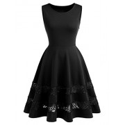Dressystar Cocktail Party Dress Sleeveless Lace See-Through Hemline - Dresses - $52.99