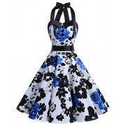 Dressystar Vintage Polka Dot Retro Cocktail Prom Dresses 50's 60's Rockabilly Bandage - Dresses - $14.60