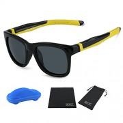 Duco Kids Sports Style Polarized Sunglasses TPEE Flexible Frame Glasses For Boys And Girls K009 - Eyewear - $48.00