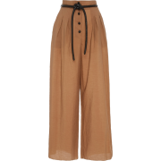 Dunn Vegan-Leather Detailed Wide-Leg Cot - Capri & Cropped -