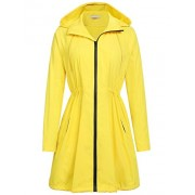 ELESOL Women Waterproof Raincoat Hooded Lightweight Windbreaker Outdoor Anorak Jacket - Outerwear - $16.99