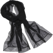 Echo Evening Wrap w/ Sequins Black - Scarf - $45.60