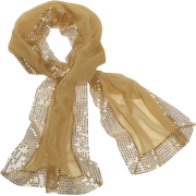 Echo Evening Wrap w/ Sequins Gold - Scarf - $45.60