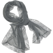 Echo Evening Wrap w/ Sequins Gunmetal - Scarf - $45.60