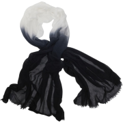 Echo Ombre Boarder Wrap Black - Scarf - $39.90
