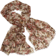 Echo Oversized Fall Floral Wrap Rust - Scarf - $39.90