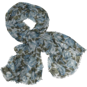 Echo Oversized Fall Floral Wrap Teal - Scarf - $39.90