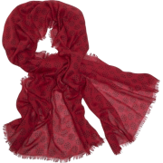 Echo Polka Dot Wrap Laquer Red - Scarf - $39.90