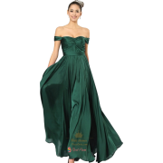 Emerald green evening gown - People -
