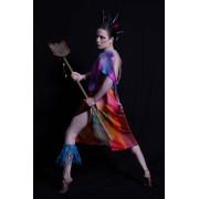 Hand painted silk dress - My photos -
