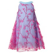 FAIRY COUPLE Girl's A-Line Embroidered Tulle Halter Knee Length Dress K0242 - Dresses - $79.99