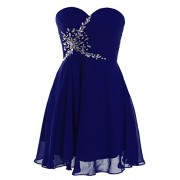 FAIRY COUPLE Short Strapless Sweetheart Prom Dress Crystal D0371 - Accessories - $69.99