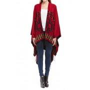 FASHIONOMICS Womens Boho Cape Sweater Poncho - Cardigan - $23.50