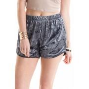 FASHIONOMICS Womens Casual Crush Velvet Elastic Waist Pull On Shorts - Shorts - $15.99