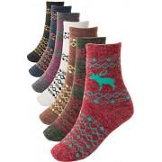 FASHIONOMICS Womens Winter Cozy Warm Knitting Crew Socks - Underwear - $11.99