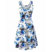 FENSACE Women's Sleeveless Flare Floral  - Kleider - 18.99€