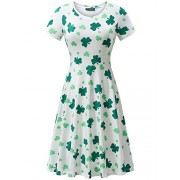 FENSACE Clover Dresses For Women Clover Dress (Small, Clover) - Dresses - $17.88