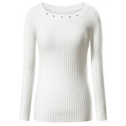 FENSACE Long Sleeve Crew Neck Pullover Stretchable Sweater Jumper - Cardigan - $19.88
