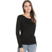 FENSACE Long Sleeve Round Neck Womens Layer Underscrub Tee Shirt - Shirts - $16.99