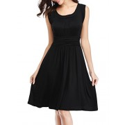 FENSACE Women's Sleeveless Casual Flared Tank Dress - Dresses - $22.99